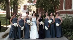 white hydrangeas bridesmaid bouquets