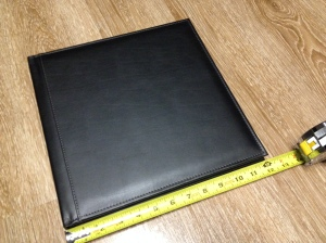 12 x 12 black leather photobook