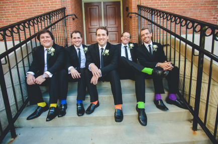 rainbow socks gay wedding